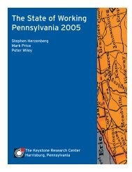 The State of Working Pennsylvania 2005 - The Keystone Research ...
