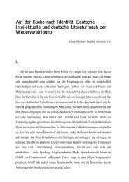 Auf der Suche nach Identität. Deutsche Intellektuelle und deutsche ...