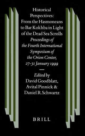 historical perspectives: from the hasmoneans to bar kokhba in light ...