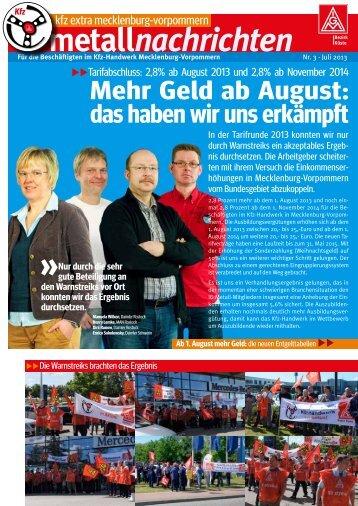 »Kfz-Extra Juli 2013 Mecklenburg-Vorpommern