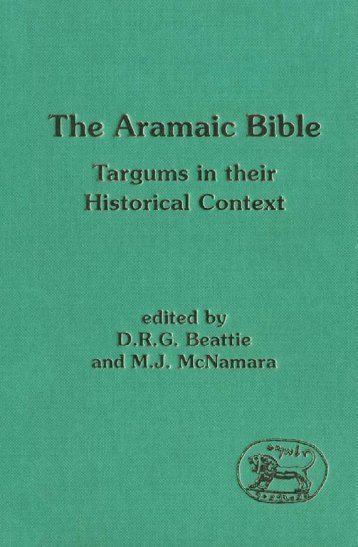 The Aramaic Bible: Targums in their Historical Context