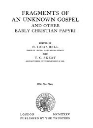 FRAGMENTS OF AN UNKNOWN GOSPEL