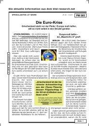 Die Euro-Krise - khd-Blog