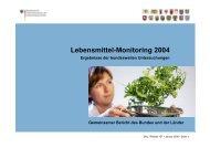 Ergebnisse des Lebensmittel-Monitoring 2004 - khd-Blog