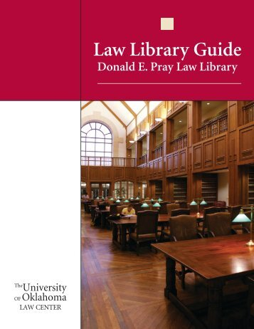 Law Library Guide - University of Oklahoma