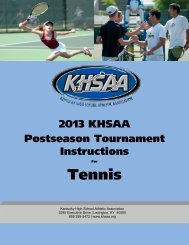 Tennis - Kentucky High School Athletic Association