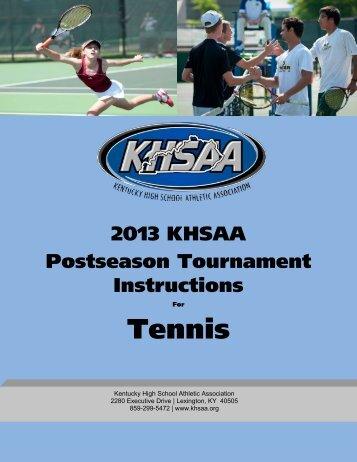 Tennis - Kentucky High School Athletic Association