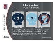 Libero Uniform Rule 4-2-2 Note N GE C HA N R ULE C R