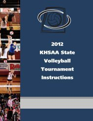 2012 KHSAA State Volleyball Tournament Instructions