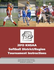 with forms - Kentucky High School Athletic Association