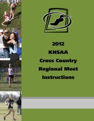 Regional Meet Instructions for Participating Teams - Kentucky High ...