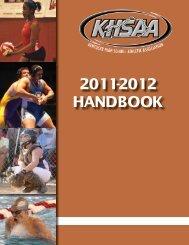 20112012 Handbook - Kentucky High School Athletic Association