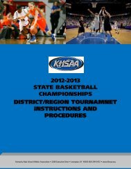 Complete Tournament Manager Manual (w/ forms) - Kentucky High ...