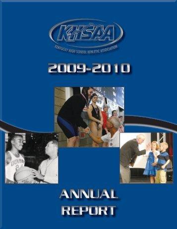 2009-2010 ANNUAL - Kentucky High School Athletic Association
