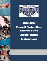 2012-2013 Pannell Swim Shop KHSAA State Championship ...