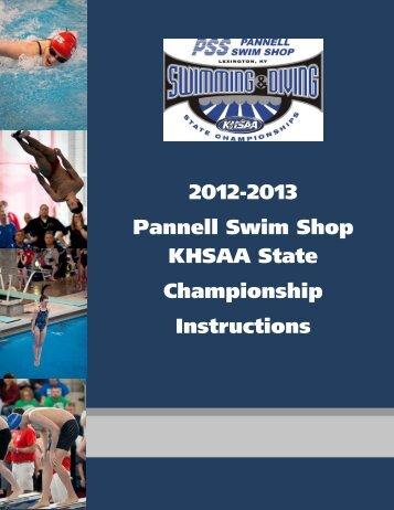 2012-2013 Pannell Swim Shop KHSAA State Championship ...