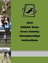 2012 KHSAA State Cross Country Championships Instructions