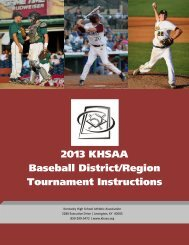 District/Region Tournament Manager Instructions - Kentucky High ...