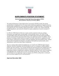 supplements position statement - Kentucky High School Athletic ...