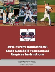 Instructions for State Umpires (PDF) - Kentucky High School Athletic ...