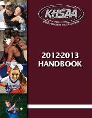 2012-2013 handbook - Kentucky High School Athletic Association