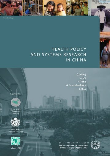 health policy and systems research in china - libdoc.who.int - World ...