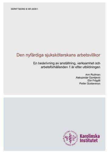 No. B 2009:1. (Pdf-fil, 412 Kb) - Karolinska Institutet