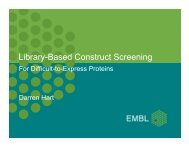 Library-based construct screening for difficult-to-express proteins