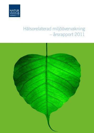 Hälsorelaterad miljöövervakning – årsrapport 2011 - Institutet för ...