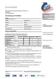 Anmeldung zur KickStart - KickStart Messe Magdeburg
