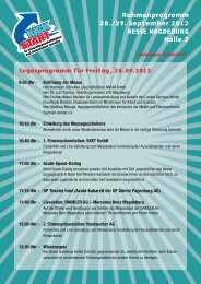 Rahmenprogramm 28./29. September 2012 MESSE MAGDEBURG ...