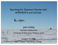Searching for Quantum Gravity with AMANDA-II ... - KICP Workshops