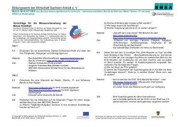 Bildungswerk der Wirtschaft Sachsen-Anhalt e. V. - KickStart Messe ...