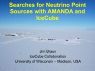 Searches for Neutrino Point Sources with ... - KICP Workshops