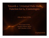 Towards a Universal Halo Mass Function for fNL ... - KICP Workshops