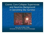 Cosmic Core-Collapse Supernovae and Neutrino ... - KICP Workshops