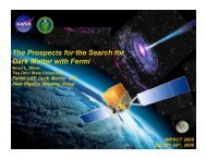 The Prospects for the Search for Dark Matter with ... - KICP Workshops