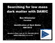 Searching for low mass dark matter with DAMIC - KICP Workshops