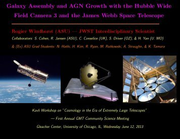 Galaxy Assembly and AGN Growth with the Hubble Wide Field ...
