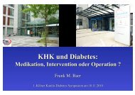 KHK und Diabetes: Medikation, Intervention oder Operation?