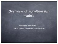 Overview of non-Gaussian models - KICP Workshops