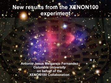 New results from the XENON100 experiment - KICP Workshops