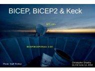 BICEP, BICEP2 & Keck - KICP Workshops