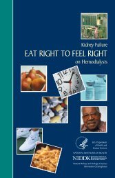 Eat Right to Feel Right on Hemodialysis - National Kidney and ...