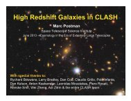 High Redshift Galaxies in CLASH - KICP Workshops
