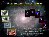 Fibre systems for cosmology - KICP Workshops