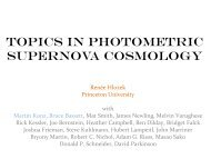 topics in photometric supernova cosmology - KICP Workshops