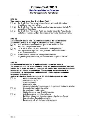 Betriebswirtschaftslehre - KiGW.de
