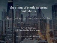 The Status of Sterile Neutrino Dark Matter ... - KICP Workshops