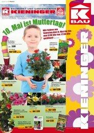 10 . Mai i stMuttertag! - Kieninger Baumarkt